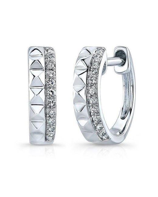 Anne Sisteron - Multicolor 14kt White Gold Spike & Diamond Huggie Earrings - Lyst