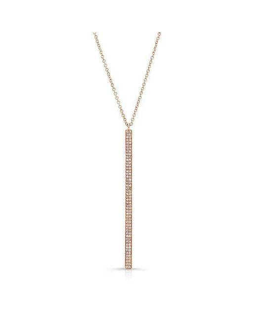 Anne Sisteron - Metallic 14kt Rose Gold Diamond Allure Necklace - Lyst