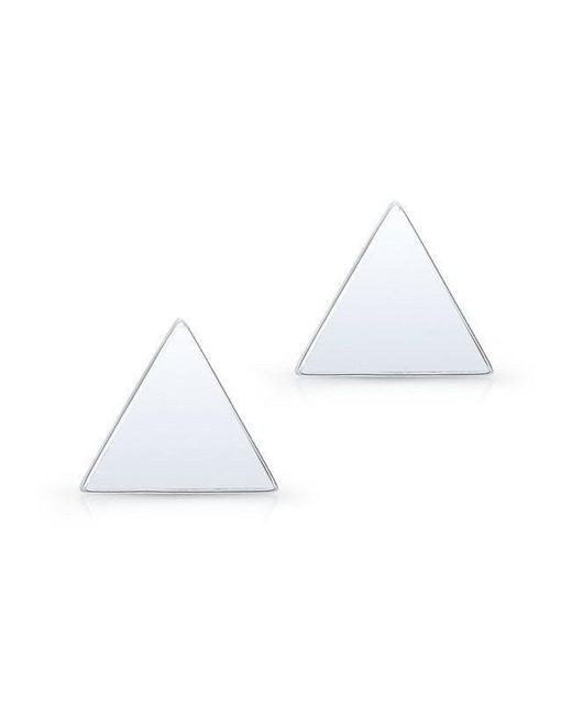 Anne Sisteron - 14kt White Gold Triangle Stud Earrings - Lyst