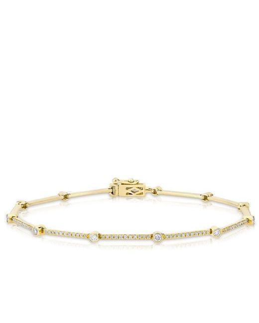 Anne Sisteron | Metallic 14kt Yellow Gold Diamond Bar Links Bracelet | Lyst
