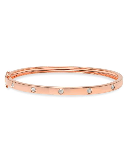 Anne Sisteron - Multicolor 14kt Rose Gold Glisten Half Diamond Bangle Bracelet - Lyst