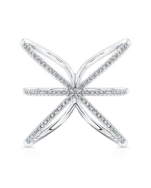 Anne Sisteron - Metallic 14kt White Gold Diamond Starburst Ring - Lyst