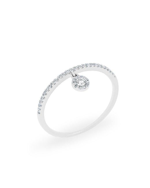 Anne Sisteron - Metallic 14kt White Gold Diamond Divinia Ring - Lyst