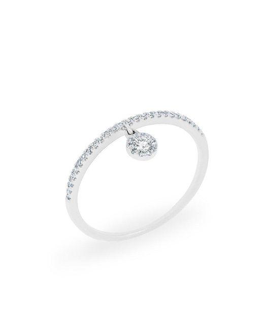Anne Sisteron | Metallic 14kt White Gold Diamond Divinia Ring | Lyst