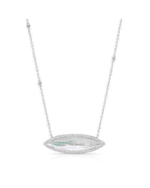 Anne Sisteron | Metallic 14kt White Gold Triple Diamond Chain Celeste Necklace | Lyst