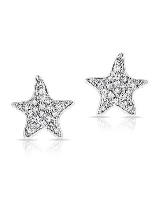 Anne Sisteron - Metallic 14kt White Gold Diamond Starfish Stud Earrings - Lyst