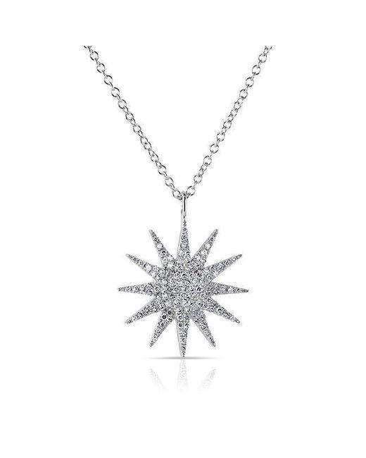 Anne Sisteron - Metallic 14kt White Gold Diamond Glimmer Necklace - Lyst