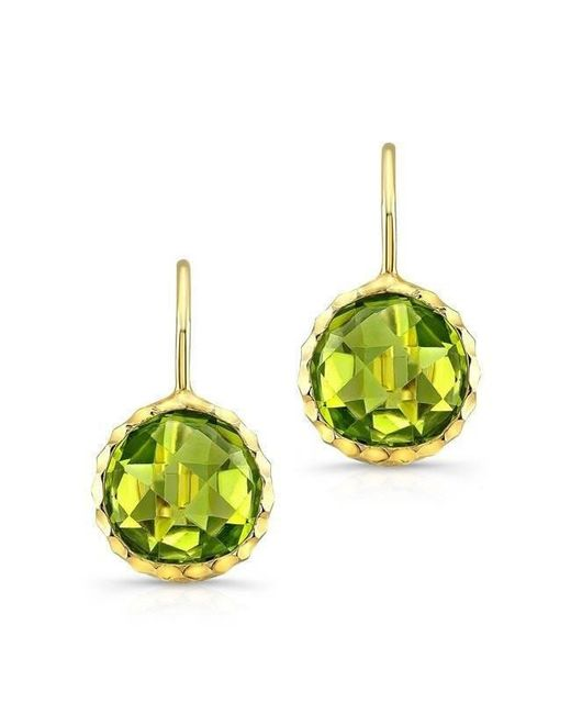 Anne Sisteron - 14kt Yellow Gold Peridot Earrings - Lyst