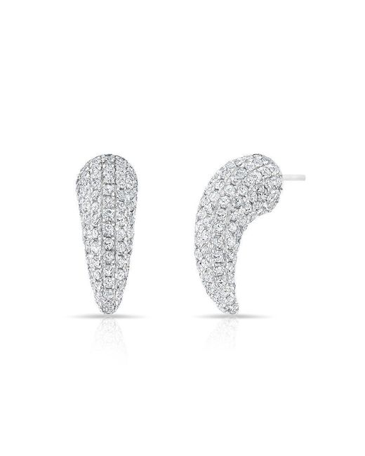 Anne Sisteron | 14kt White Gold Diamond Talon Stud Earrings | Lyst