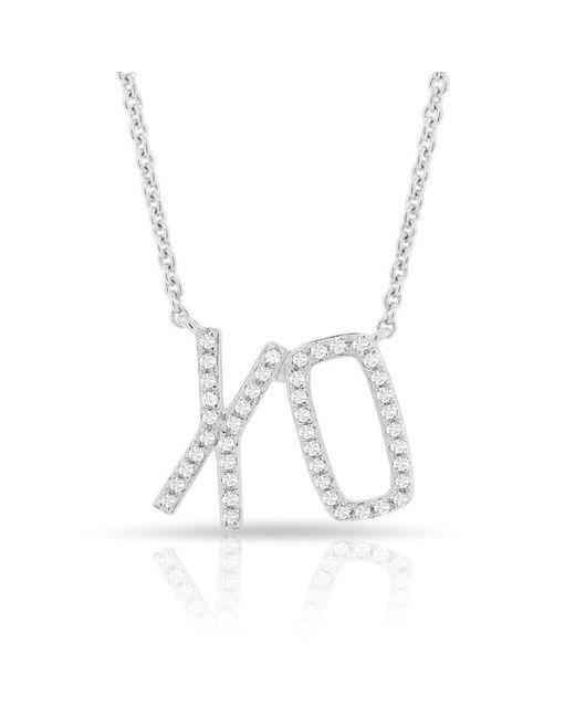 Anne Sisteron - Multicolor 14kt White Gold Diamond Xo Necklace - Lyst