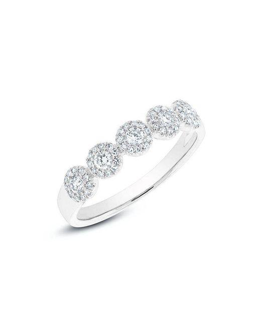 Anne Sisteron - Multicolor 14kt White Gold Diamond Lexi Ring - Lyst