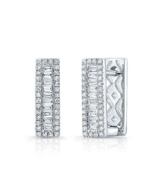 Anne Sisteron - Multicolor 14kt White Gold Baguette Diamond Rectangle Huggie Earrings - Lyst