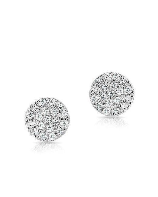 Anne Sisteron | Metallic 14kt White Gold Mini Diamond Disc Stud Earrings | Lyst