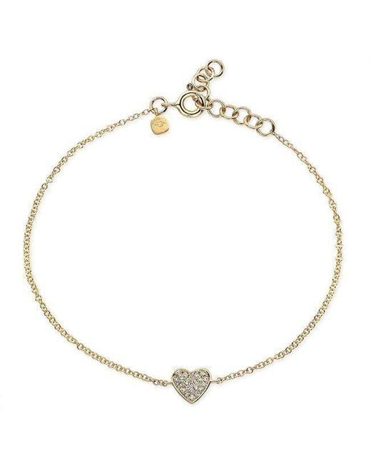 Anne Sisteron - Metallic 14kt Yellow Gold Diamond Heart Bracelet - Lyst