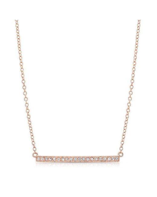 Anne Sisteron - Metallic 14kt Rose Gold Diamond Bar Necklace - Lyst