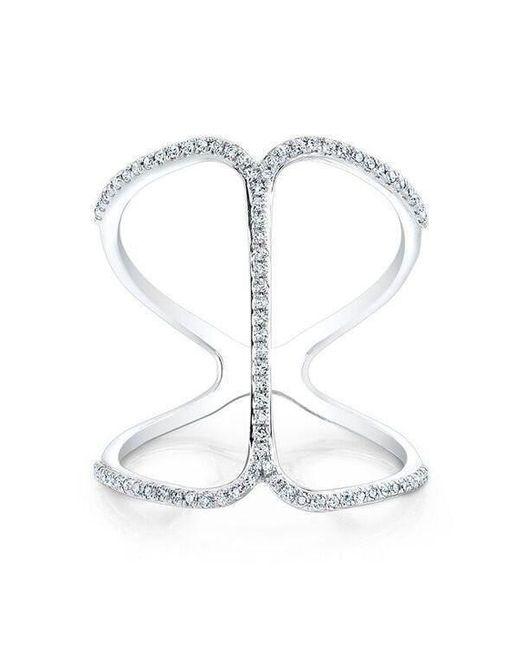 Anne Sisteron - 14kt White Gold Diamond Phantom Ring - Lyst