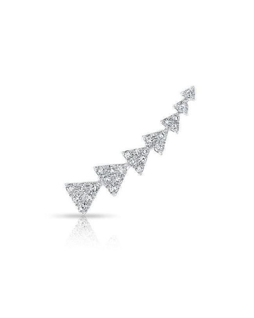 Anne Sisteron - Multicolor 14kt White Gold Diamond Triangle Ear Climber - Lyst