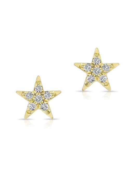 Anne Sisteron - Metallic 14kt Yellow Gold Diamond Bellatrix Star Stud Earrings - Lyst