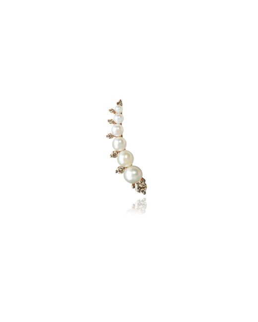 Annoushka - Metallic Diamonds & Pearls Right Ear Pin - Lyst