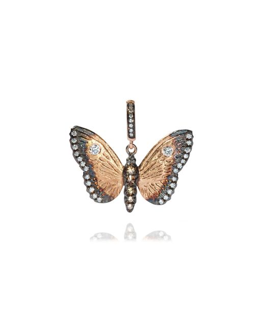 Annoushka - Metallic Mythology 18ct Rose Gold Diamond Butterfly Pendant - Lyst