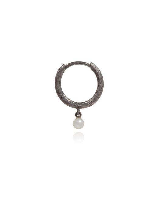 Annoushka - Hoopla 18ct White Gold Pearl Hoop Earring - Lyst