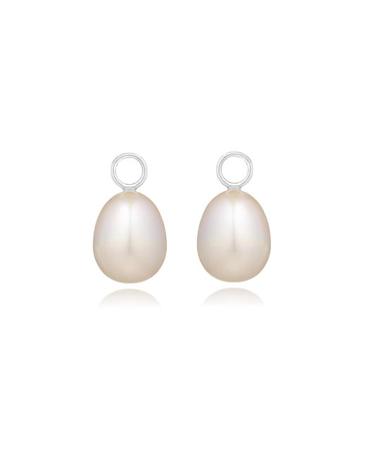 Annoushka - White Classic Baroque Pearl Earring Drops - Lyst