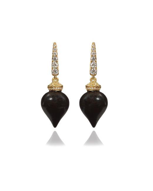 Annoushka | Metallic Touch Wood Ebony Earrings | Lyst
