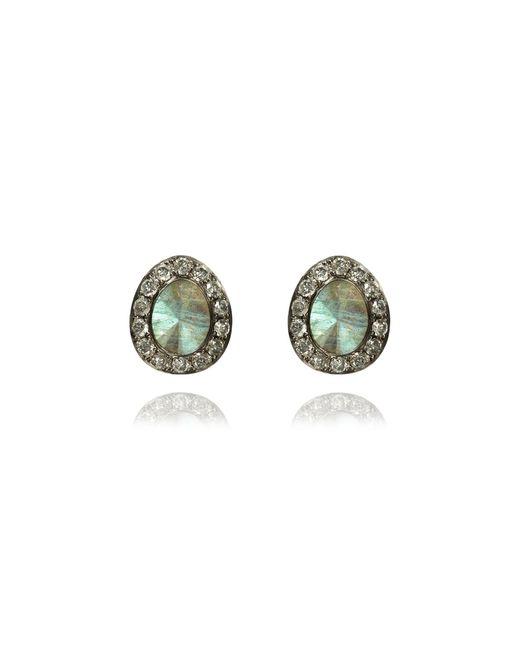 Annoushka | Multicolor Dusty Diamonds Labradorite Stud Earrings | Lyst