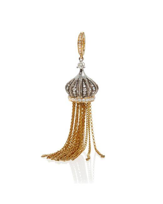 Annoushka - Metallic Touch Wood Tassel Earrings - Lyst