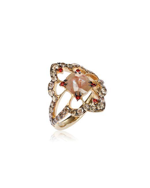 Annoushka - Metallic Imperial 18ct Gold Garnet Diamond Ring - Lyst