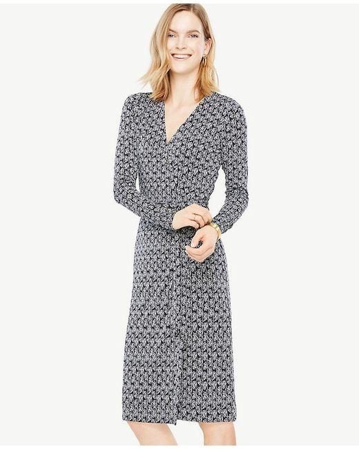 Ann Taylor | Multicolor Tall Vine Wrap Dress | Lyst