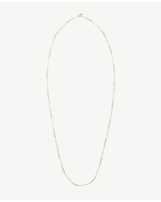 Ann Taylor - Metallic Triple Crystal Station Necklace - Lyst