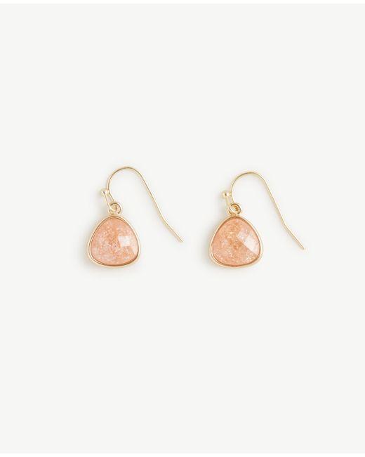 Ann Taylor | Multicolor Small Bezel Drop Earrings | Lyst