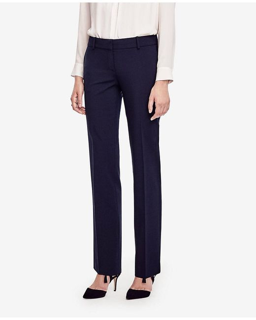 Ann Taylor | Blue The Petite Straight Leg Pant In All-season Stretch - Devin Fit | Lyst