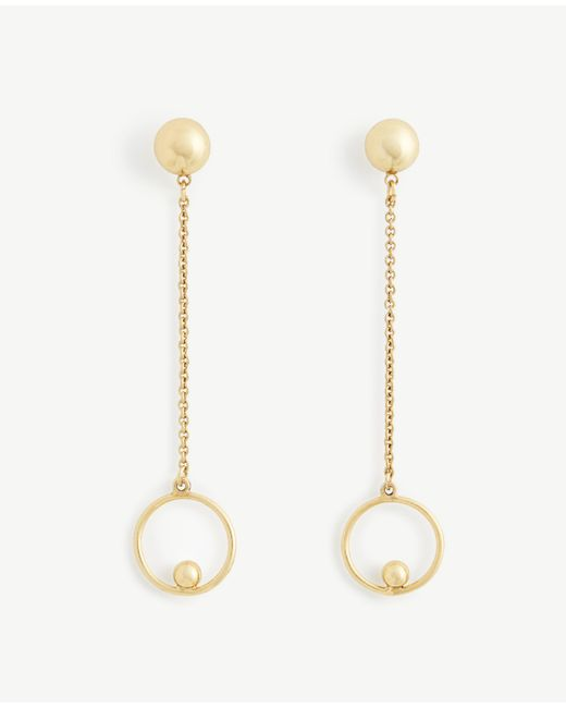Ann Taylor | Metallic Ball Drop Earrings | Lyst