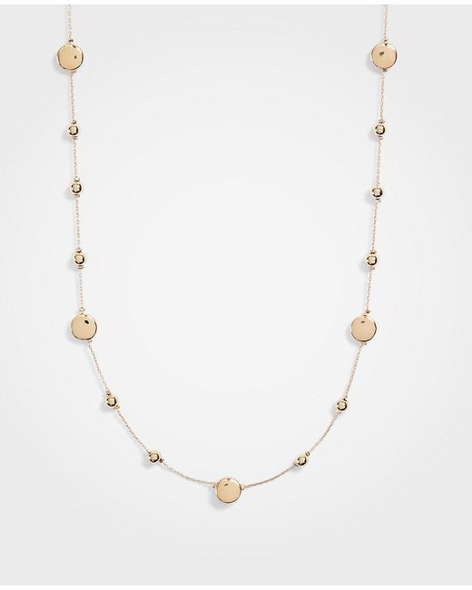 Ann Taylor - Metallic Sphere Station Necklace - Lyst