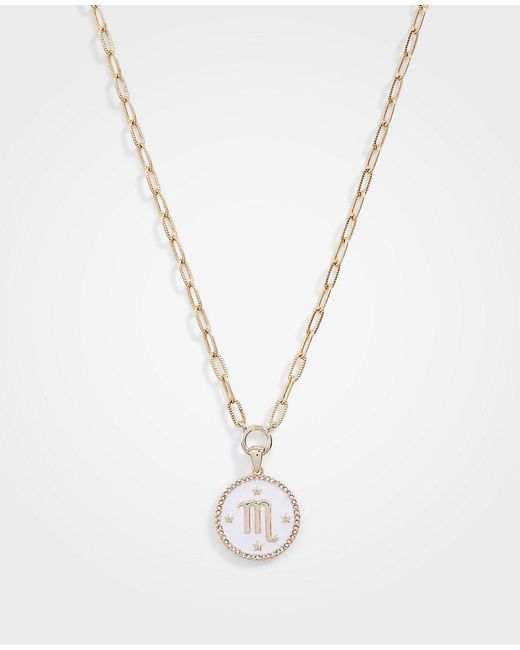 Ann Taylor - Metallic Scorpio Zodiac Necklace - Lyst