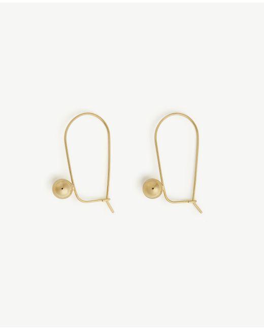 Ann Taylor | Metallic Wire Drop Earrings | Lyst