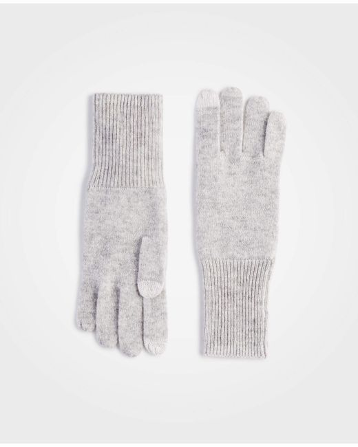 Ann Taylor - Gray Cashmere Tech Gloves - Lyst