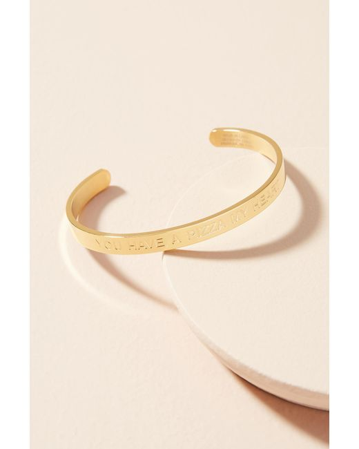 Anthropologie | Metallic Strength Sayings Cuff Bracelet | Lyst