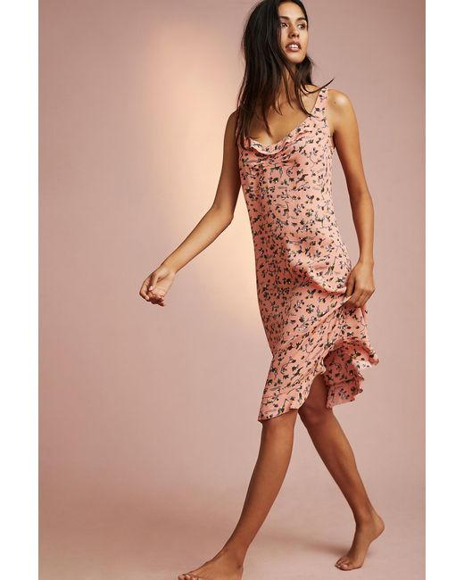 Floreat - Pink Ruffled Slip Casey Sleep Pants - Lyst