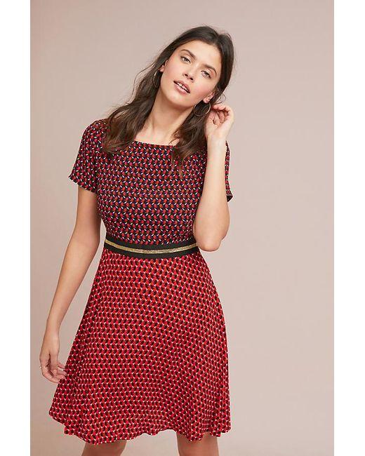 7351f6e29dd1 Maeve - Red Amici Colourblocked Dress - Lyst ...