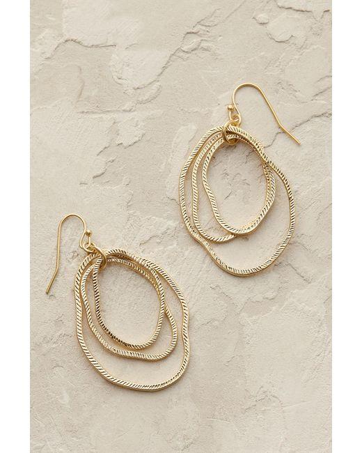 Anthropologie   Metallic Bethany Hoop Earrings   Lyst