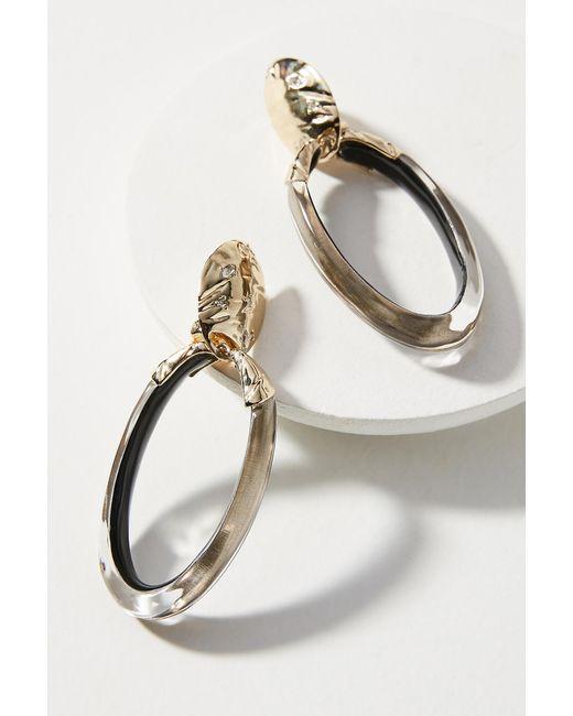 Alexis Bittar | Metallic Molten Hoop Earrings | Lyst