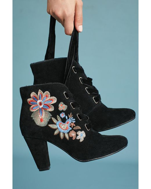 Chelsea Crew | Black Frida Embroidered Boots | Lyst