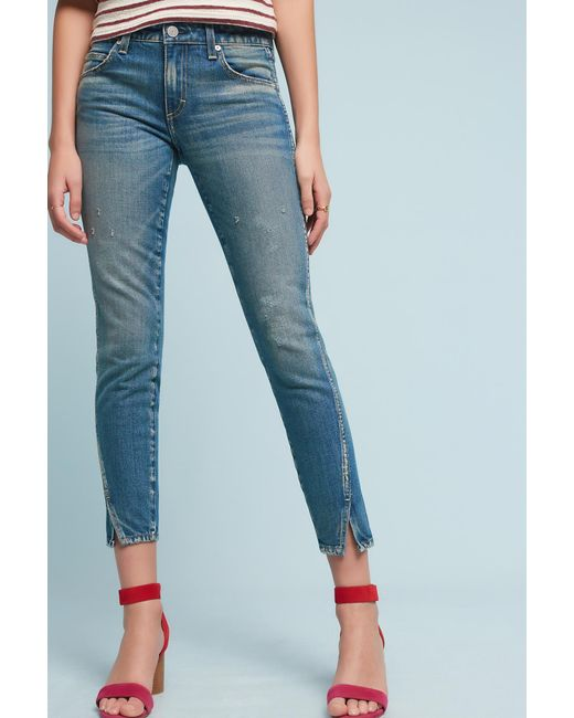 AMO | Blue Twist Mid-rise Skinny Ankle Jeans | Lyst