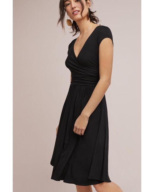 Lyst Maeve Twinkling Wrap Dress In Black