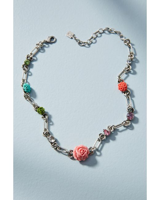 Anthropologie - Pink Carroll Necklace - Lyst