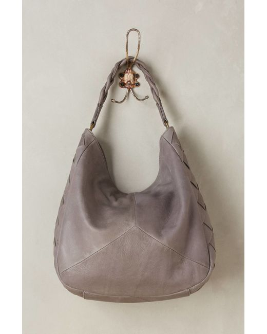 Anthropologie Delfina Hobo Bag In Brown Grey Lyst