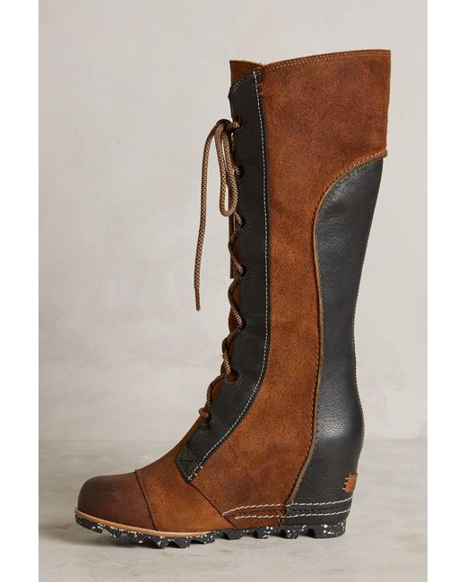 Sorel Cate The Great Wedge Boots In Multicolor Lyst